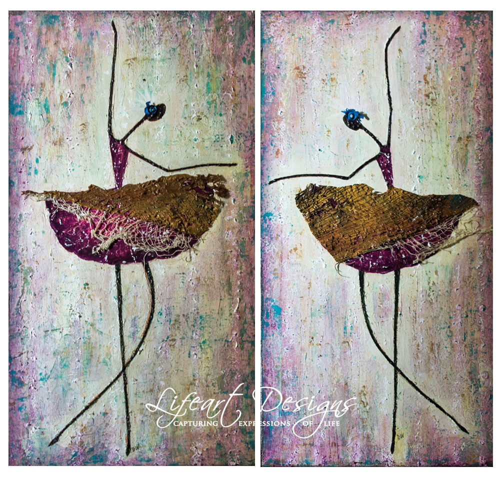 ART Hope You Dance 12x24 x2 panels