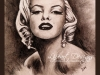 Marilyn M 11x14 charcoal and acrylic IMG_2082